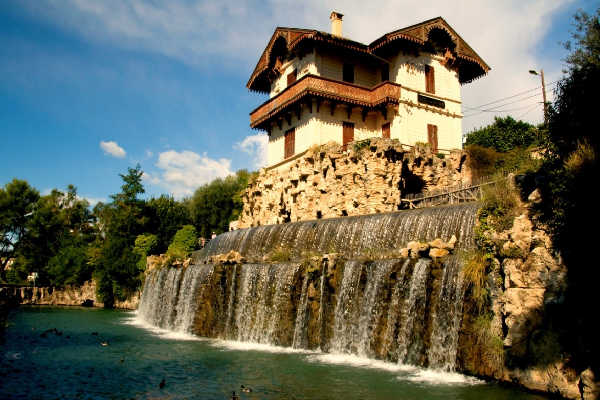 La cascade de Gairaut, un quartier de Nice.